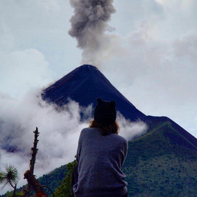 Volcano Fuegoya bak guatemala antiguaguatemala volcanoacatenango acatenango fuego mountain hikehellip
