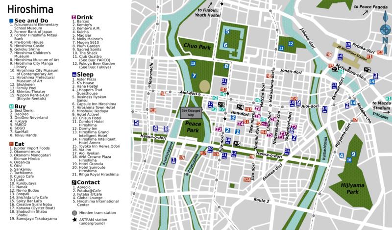 hiroşima harita